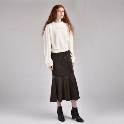 [hand me down/핸드미다운] Zipped Metal Mermaid Long Skirt