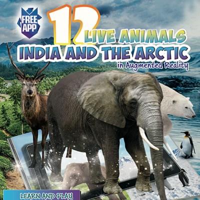 [DEVAR] 4D 인도와 북극의 동물 AR 컬러링북
