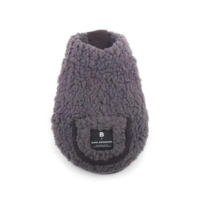 [blackmayonnaise] Fleece Pocket Vest_Charcoal