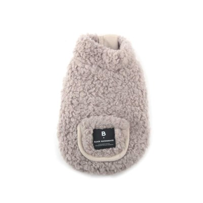 [blackmayonnaise] Fleece Pocket Vest_Beige