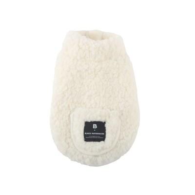 [blackmayonnaise] Fleece Pocket Vest_White