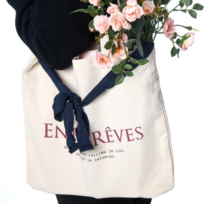 LOGO ECO BAG - NAVY RIBBON