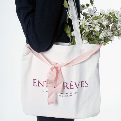 LOGO ECO BAG - PINK RIBBON