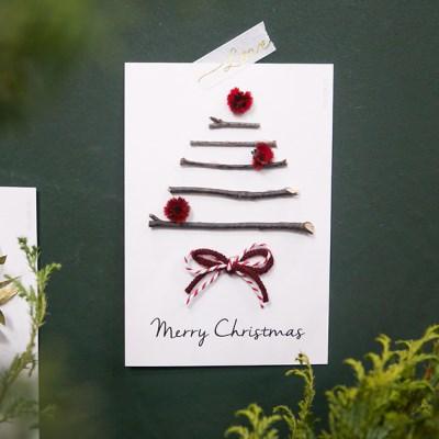 크리스마스 프리저브드 카드 트리