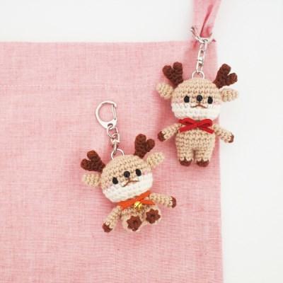 꼬꼬마 사슴 열쇠고리, 가방걸이, 장식소품 인형