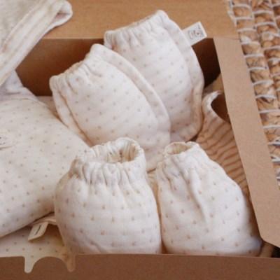[쏘잉앤맘] DIY 오가닉 도트 손싸개 발싸개 손발싸개 세트 만들기