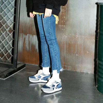 Button High-rise Cigarette Jeans(여성용)