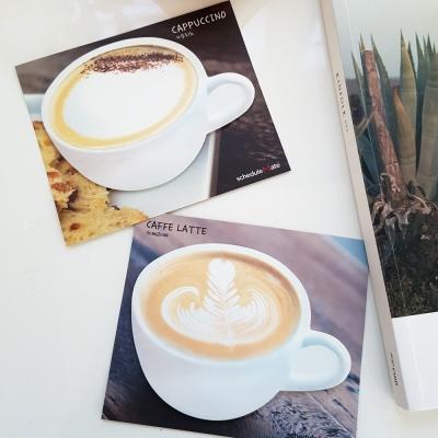 카페 메모잇-2종(카페라떼, 카푸치노)