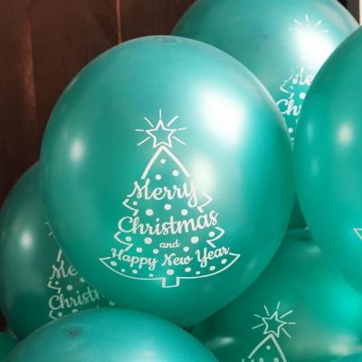 크리스마스풍선30cm - 트리(그린)