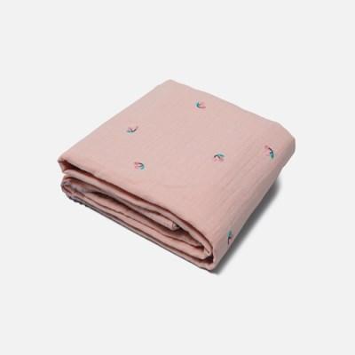 [룰라바이] Cherry Pink Gauze Blanket 체리핑크 거즈 담요