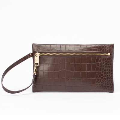CROCO EASY POUCH [brown]