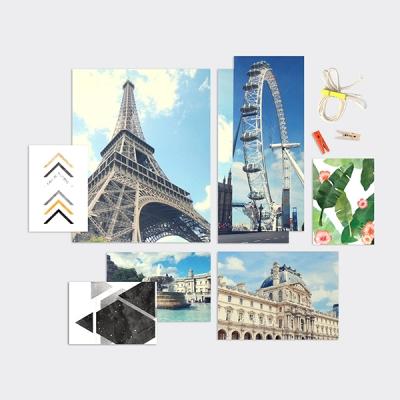 홈갤러리 포토카드 25P 세트 3종 유럽/그리너리/모노톤