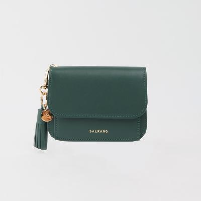[미니태슬증정]Dijon N301R Round Card Wallet olive green