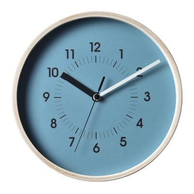 저소음 파르베.우드벽시계(Blue)