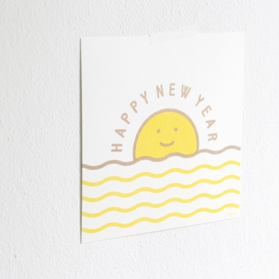 HAPPY NEW YEAR riso card