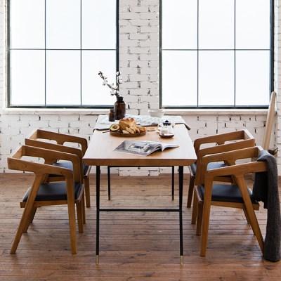 마이 시그니처 뉴요커 테이블 1800 4인 체어세트(우드슬_(12149725)