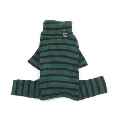 [monchouchou Daily Stripe All in one_Green/Black