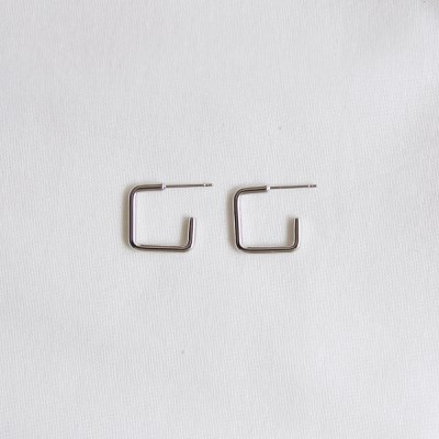 square line earrings (2colors)