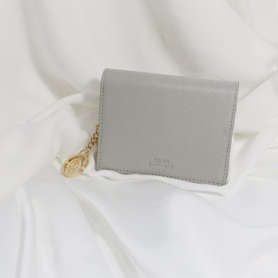 [별자리키링 증정] D.LAB Minette Half Wallet - Gray