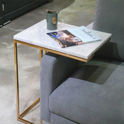비앙코 카라라 천연대리석 쇼파 사이드 테이블
