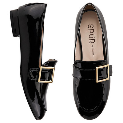 SPUR[스퍼] 로퍼 MS7016 Frame belted loafer 블랙