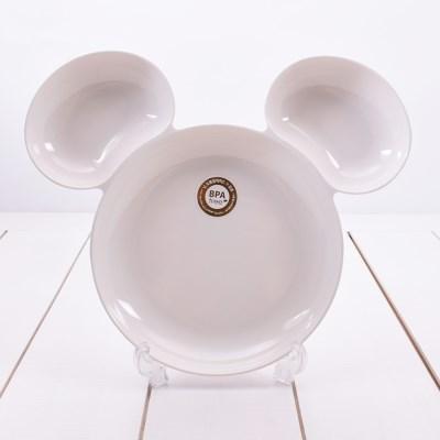 디즈니 미키 멜라민 아이콘 접시 아이보리