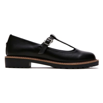 [PIER4] T-Strap Loafer_Black (FLPR8S1W21)
