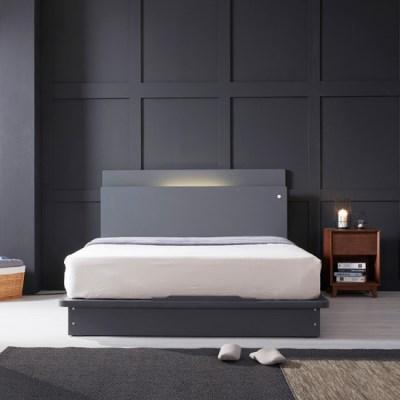LED (USB내장) 평상형 침대 NA202 SS (본넬스프링)