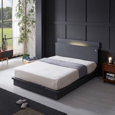 LED (USB내장) 평상형 침대 NA201 SS (매트제외)