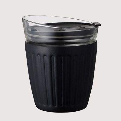 더블월 보온보냉 글라스 라떼컵 Black