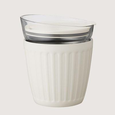 더블월 보온보냉 글라스 라떼컵 Cream