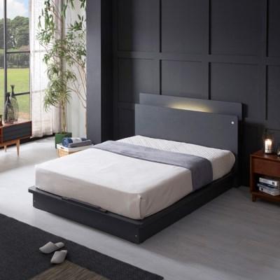 LED (USB내장) 평상형 침대 NA208 Q (CL라텍스+독립스프링)