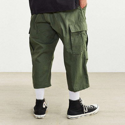 6 POCKET BDU CAPRI PANTS OLIVE