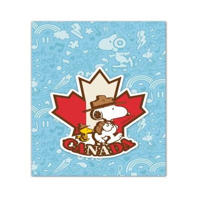 스누피 트래블데코스티커13 캐나다1