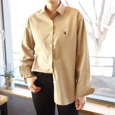 남녀공용 기본 루즈핏 셔츠 (2color)