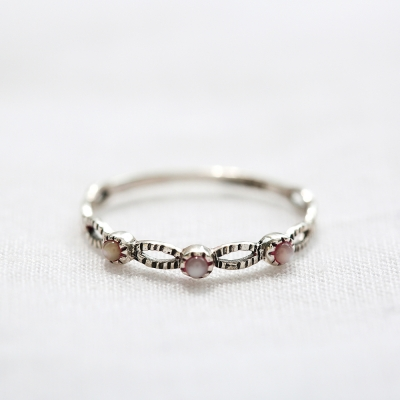 [925실버] 핑크마더펄 반지