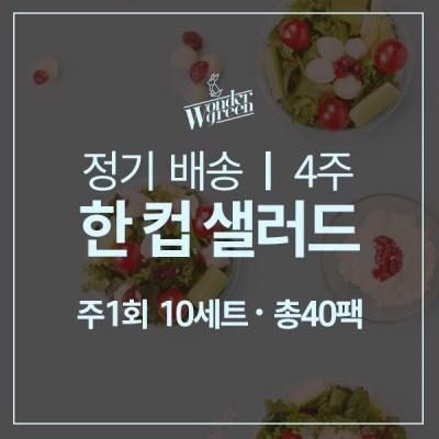 [정기배송]한컵샐러드 10팩x4주(총40팩)
