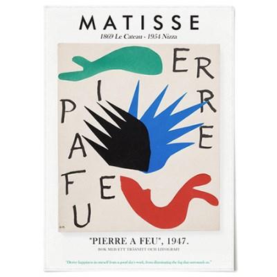 패브릭 포스터 드로잉 인테리어 액자 앙리 마티스 17