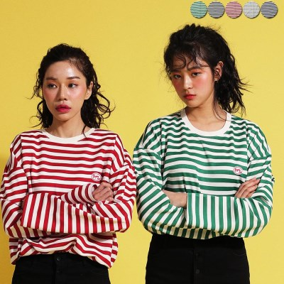 Plain Stripe T-shirt(5color)(unisex)