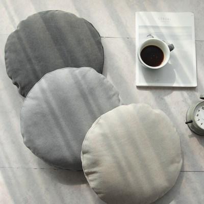 소프트 피그워싱 원형방석(솜포함)