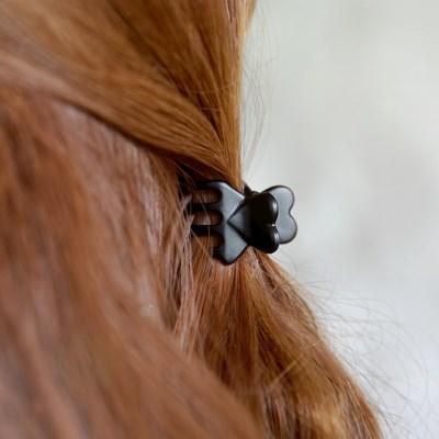 매트 블랙 미니집게핀