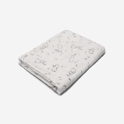 [룰라바이] Bunny White Gauze Blanket 바니 화이트 거즈 블랭킷