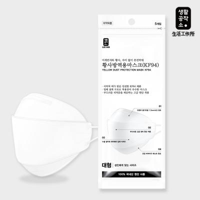 [생활공작소] 황사마스크 KF94 5개 대형/소형_(650174)
