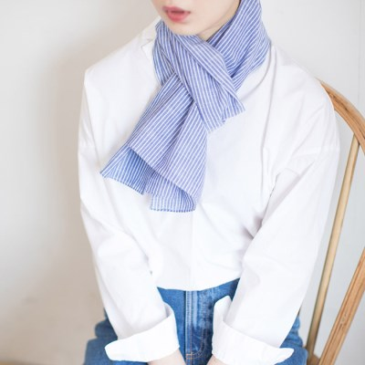 line stripe cotton scarf