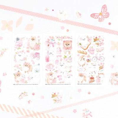 마넷 컷팅스티커 sampler - 벚꽃 포메