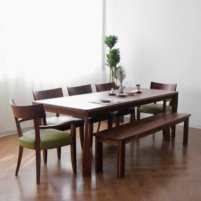 [헤리티지월넛] A4 식탁/테이블 세트
