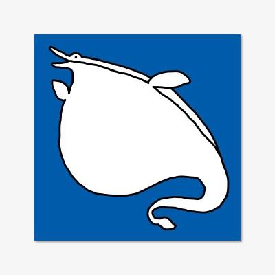 바보공룡 떡메모지 - 모사사우르스 (파랑)