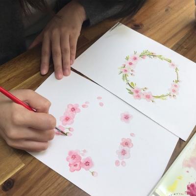 (부산) 종이 위에 퍼지는 꽃 수채화
