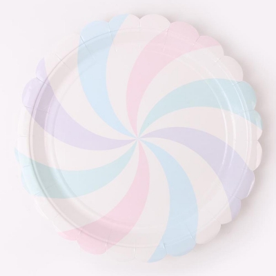 롤리팝 파티접시 23cm - 솜사탕(6입)
