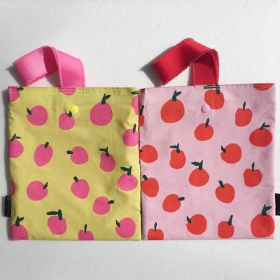 pomme bag (사과 에코백-방수 가방)